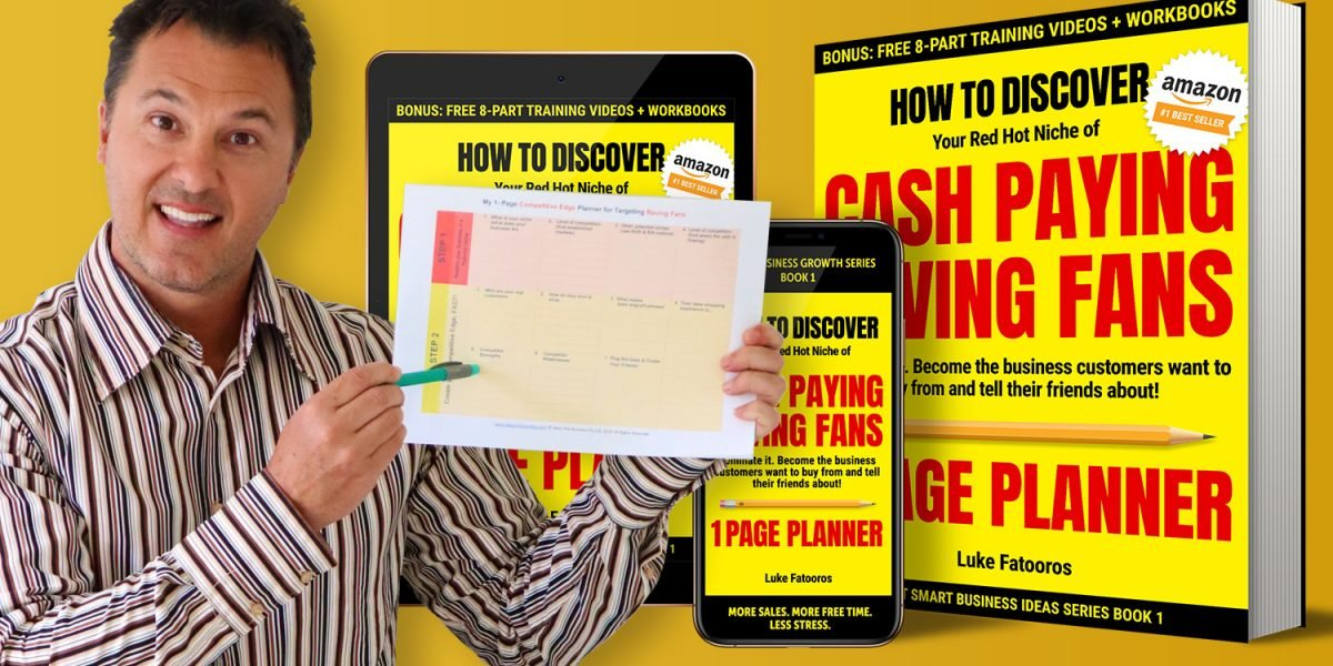 BOOK 1: 1-Page Planner 8-Part Video Companion Course page image for Ideas Into Business